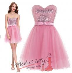 Vel. 32.- Koktejlky s tylovou sukní v růžové barvě