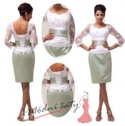Vel. 32.- Bílé společenské šaty s krajkou, k promoci či k ma