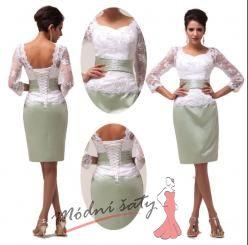 Vel. 36.- Bílé společenské šaty s krajkou, k promoci či k ma