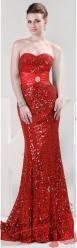 Vel. 40.- Zářivé plesové šaty s flitry