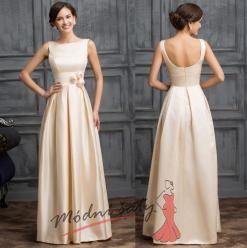 Vel. 38. Meruňkové šaty pro družičky s růžičkami