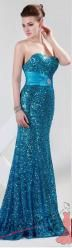Vel. 42.- Zářivé plesové šaty s flitry