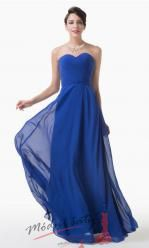 Vel. 42.- Elegantní tmavě modré šaty bez ramínek