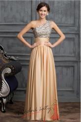 Vel. 40.- Elegantní společenské šaty zlaté