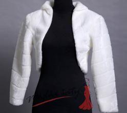 Kabátek přes ramena ke svatebním šatům