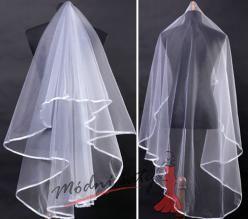 Kulatý jednoduchý svatební závoj