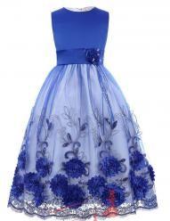 Vel. 11.-12.- Dětské šatičky pro družičky s vyšívanou sukní