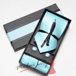 Pánská kravata modrozelená