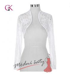 Krajkový kabátek k šatům bílý