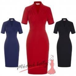 Pouzdrové šaty s límečkem