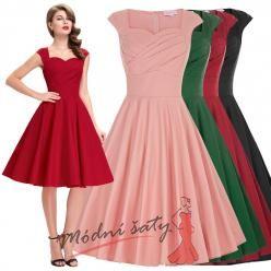 Romantické letní šaty s malými rukávky