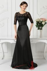 Černé večerní šaty s krajkou