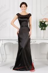 Černé uplé saténové šaty na ples