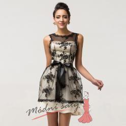 Koktejlové krajkové šaty
