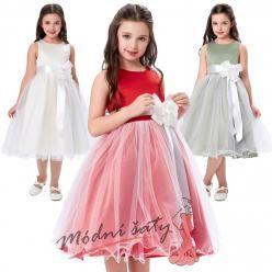 Šatičky pro malé družičky s bílou tylovou sukní