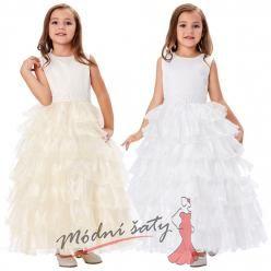 Dětské šatičky k přijímání s bohatou sukní