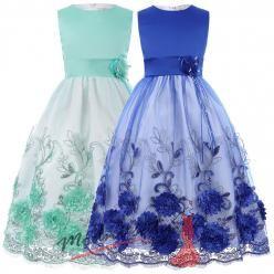 Dětské šatičky pro družičky s vyšívanou sukní