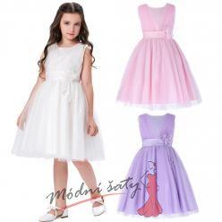 Dětské šaty  pro družičky v pastelových barvách