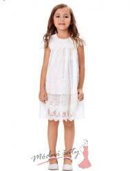 Bílé letní šatičky pro malé holčičky