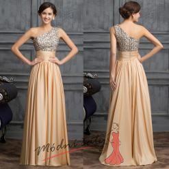 Vel. 42.- Elegantní společenské šaty zlaté