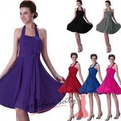 Šaty se zavazováním na krku – více barev