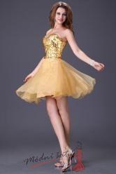 Zlaté koktejlové šaty s flitry