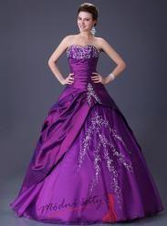 Tmavě fialové plesové šaty