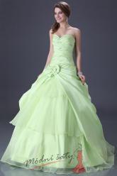 Zelenkavé plesové šaty