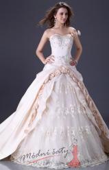 Krémové plesové nebo svatební šaty