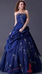 Tmavě modré plesové šaty s korzetem