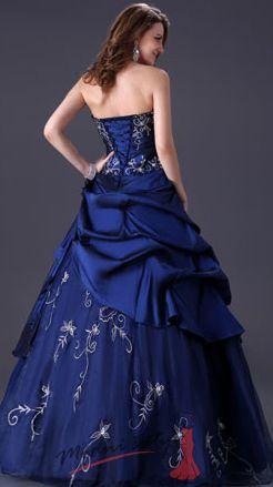 c0bdaac7ea93 Tmavě modré plesové šaty s korzetem