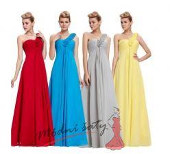 Plesové šaty s růžičkami