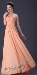Meruňkové večerní šaty