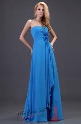 Modré šaty s květinami