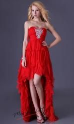 Červené amorfní plesové šaty