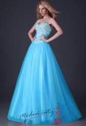 Plesové šaty se zdobeným korzetem a širokou sukní – více barev