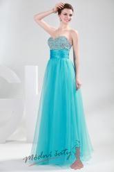 Dlouhé plesové šaty s korálky – více barev