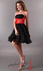 Koktejlové šaty se saténovou stuhou – více barev