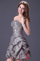 Koktejlové šaty s nabíranou sukní – více barev