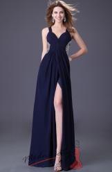 Večerní šaty s překříženými zády