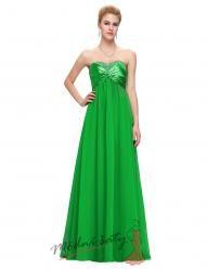 Dlouhé romantické šaty bez ramínek