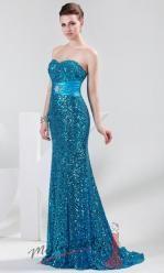 Zářivé plesové šaty s flitry