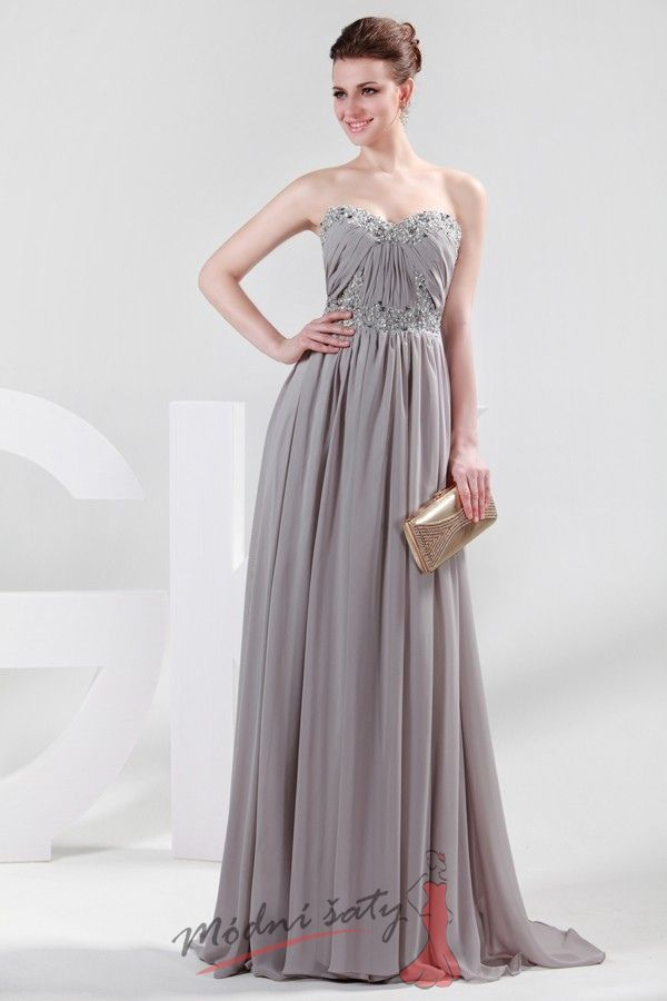 15618a65a48 Dlouhé společenské šaty s flitry - více barev