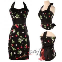 Retro šaty s třešničkami.