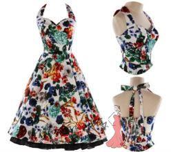 Retro šaty s květinovým vzorem