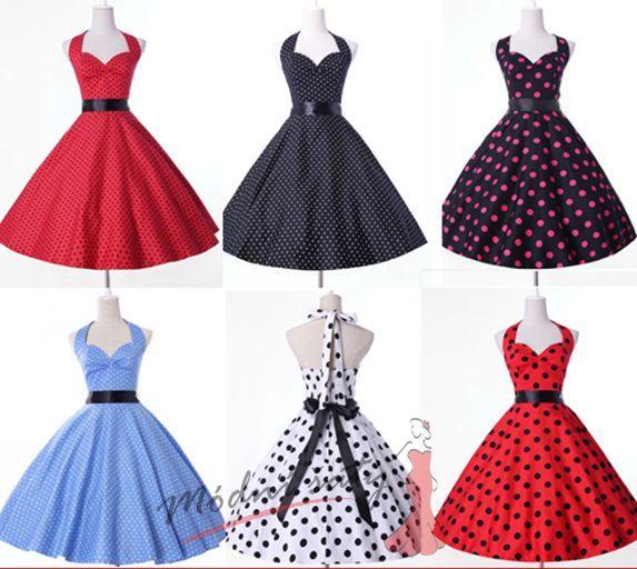 Retro šaty s puntíky - více barev 9329d63cf26