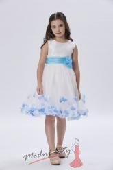 Šaty pro malou holčičku s modrou mašlí