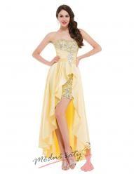 Třpytivé plesové šaty se dvěmi sukněmi