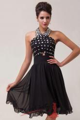 Plesové šaty černé s kamínky.