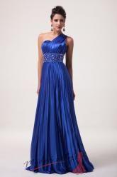 Zářivě modré společenské šaty